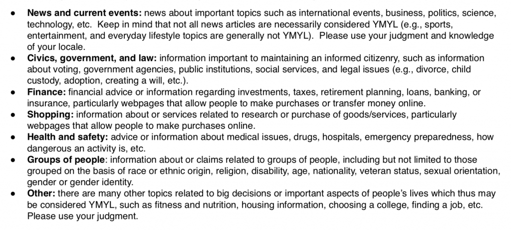 YMYL-Google-Search-Guidelines