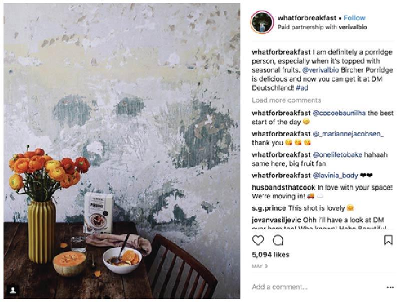 Example of Instagram Post