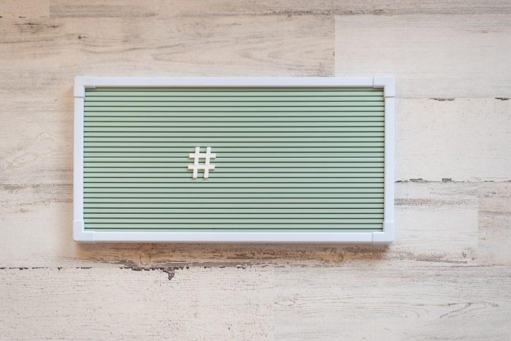 social media tips with hashtags